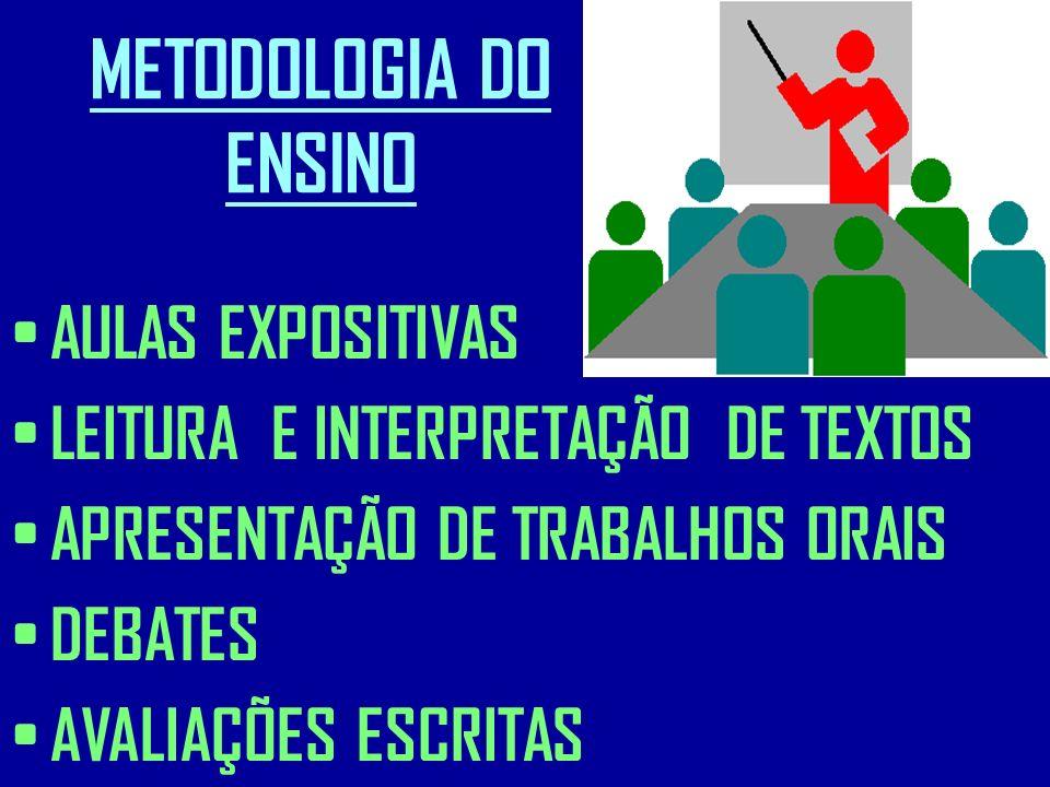 METODOLOGIA DO ENSINO AULAS EXPOSITIVAS