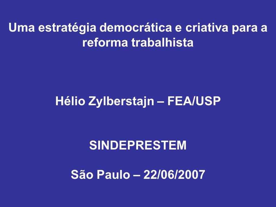 Uma estratégia democrática e criativa para a reforma trabalhista