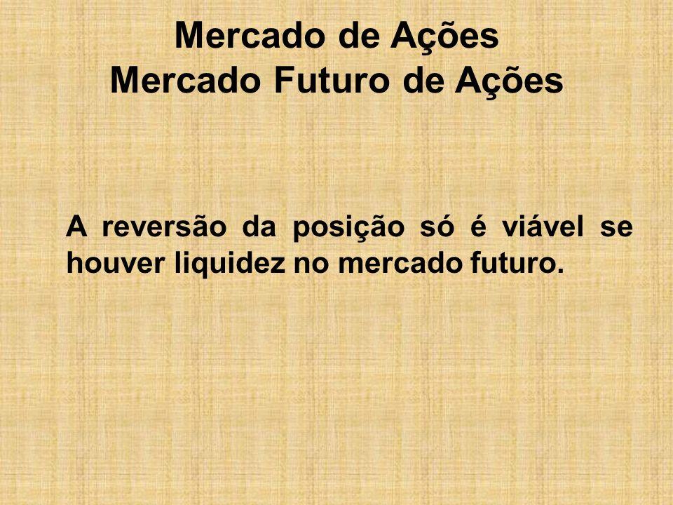 Mercado de Ações Mercado Futuro de Ações
