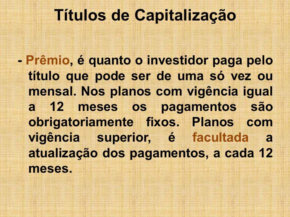 Títulos de Capitalização