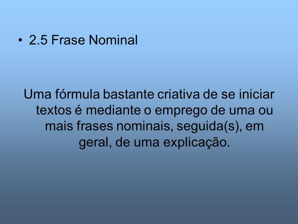 2.5 Frase Nominal