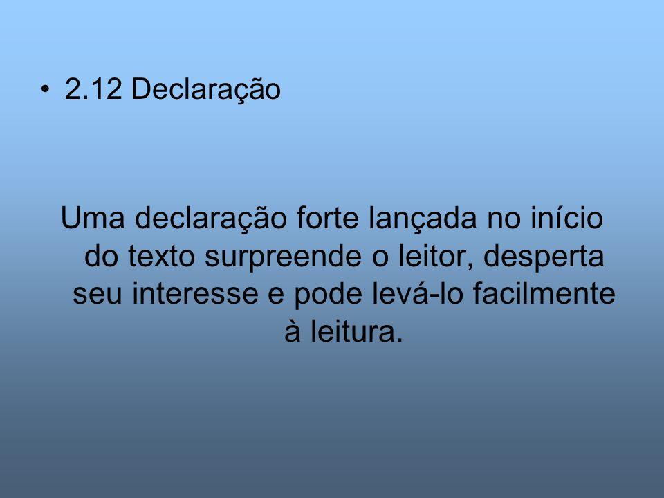 2.12 Declaração