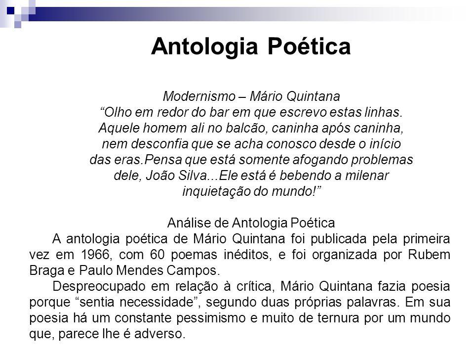 Antologia Poética Modernismo – Mário Quintana