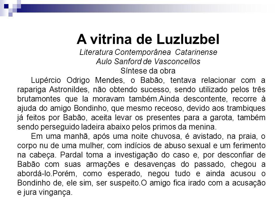 A vitrina de Luzluzbel Literatura Contemporânea Catarinense