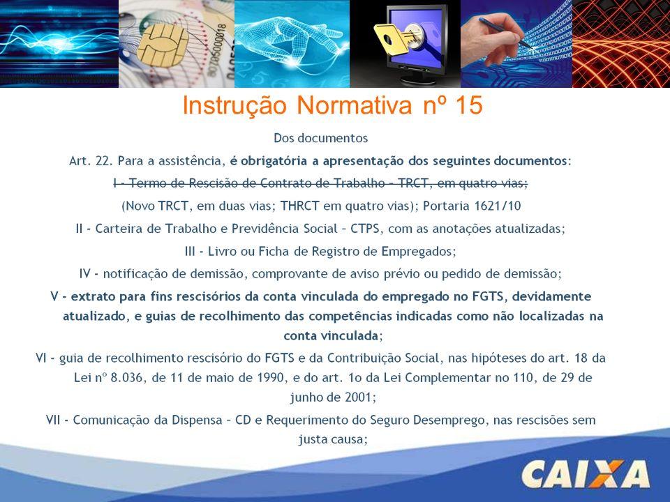 Instrução Normativa nº 15