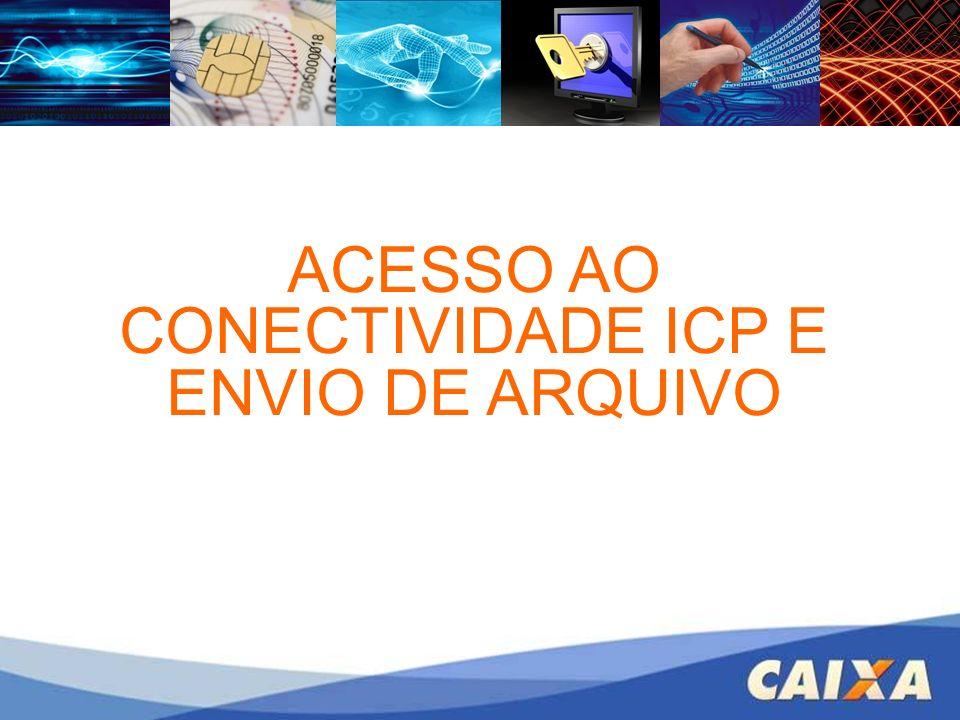 ACESSO AO CONECTIVIDADE ICP E ENVIO DE ARQUIVO