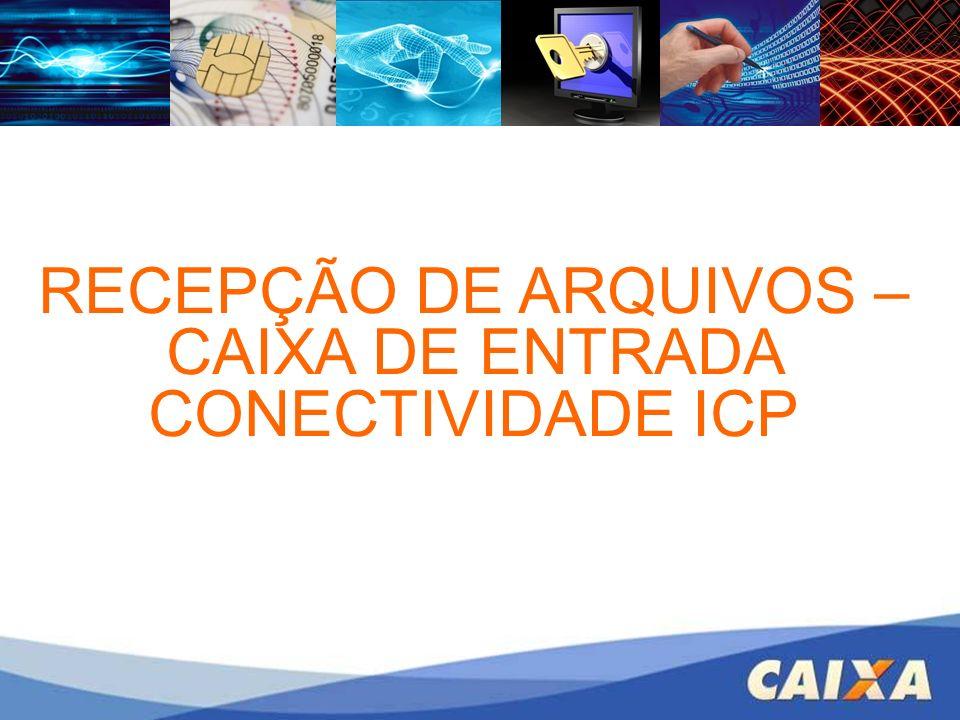 RECEPÇÃO DE ARQUIVOS – CAIXA DE ENTRADA CONECTIVIDADE ICP