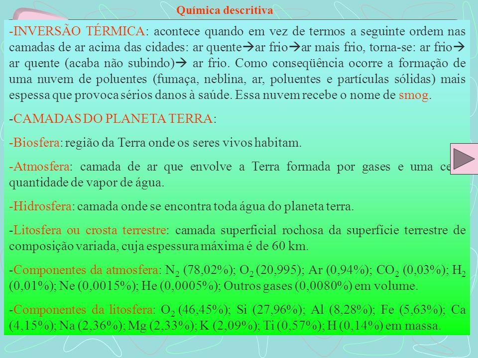 -CAMADAS DO PLANETA TERRA: