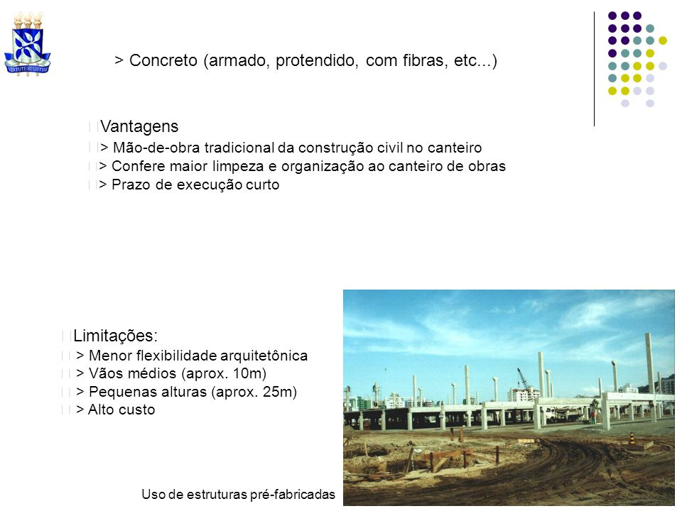 > Concreto (armado, protendido, com fibras, etc...)