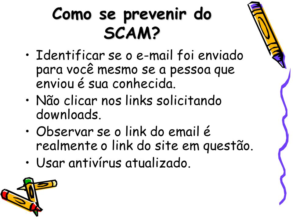 Como se prevenir do SCAM