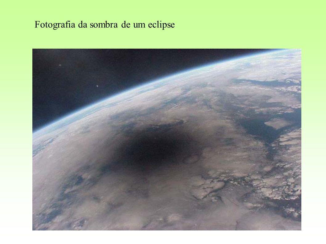 Fotografia da sombra de um eclipse