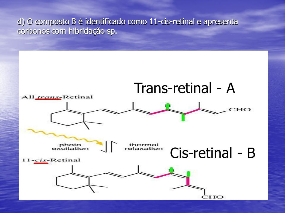 Trans-retinal - A Cis-retinal - B