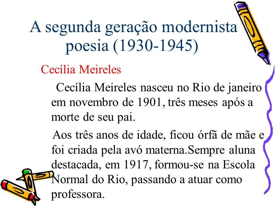 A segunda geração modernista poesia (1930-1945)