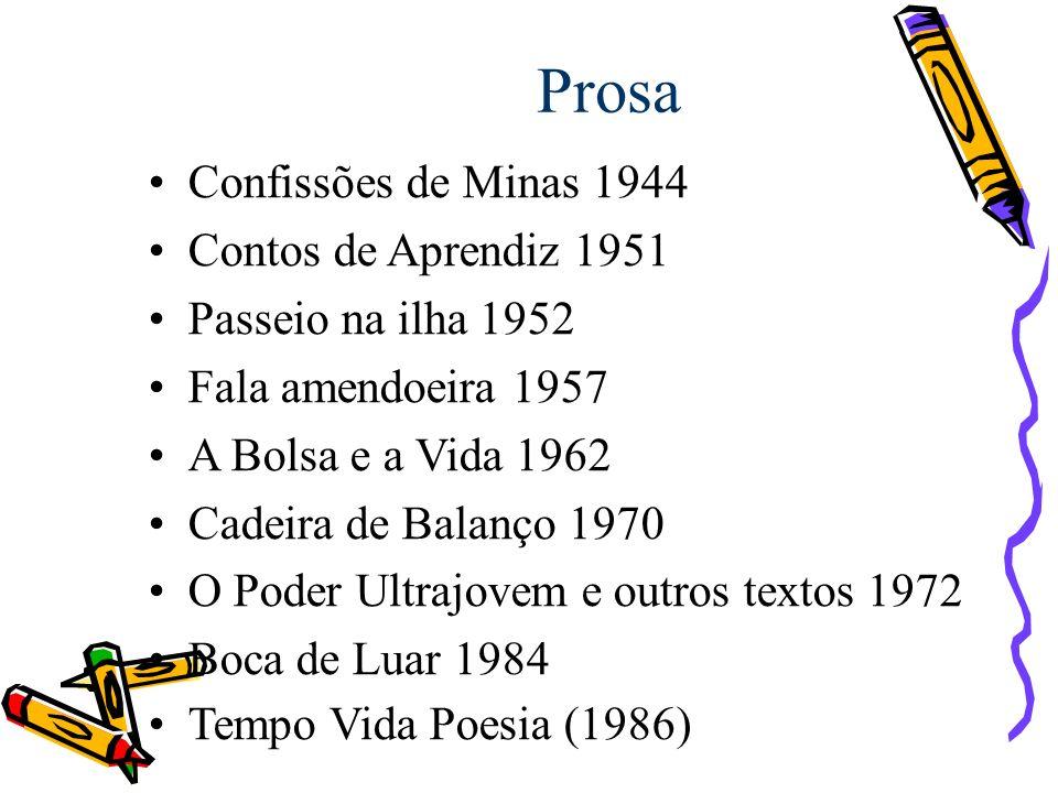 Prosa Confissões de Minas 1944 Contos de Aprendiz 1951