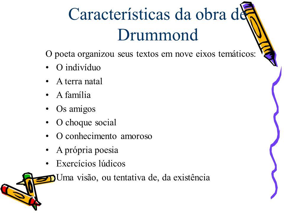 Características da obra de Drummond