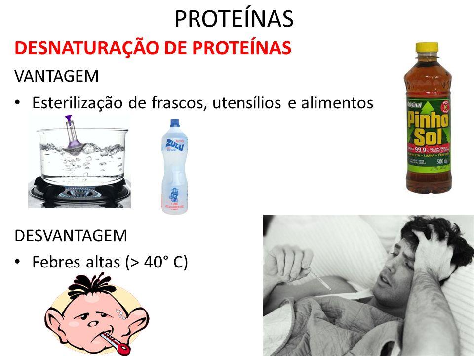 PROTEÍNAS DESNATURAÇÃO DE PROTEÍNAS VANTAGEM