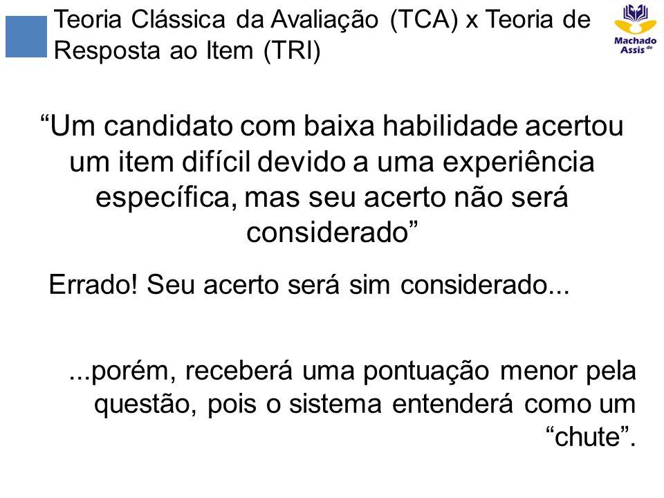 Teoria Clássica da Avaliação (TCA) x Teoria de Resposta ao Item (TRI)