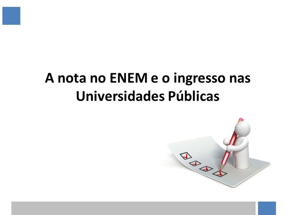 A nota no ENEM e o ingresso nas Universidades Públicas