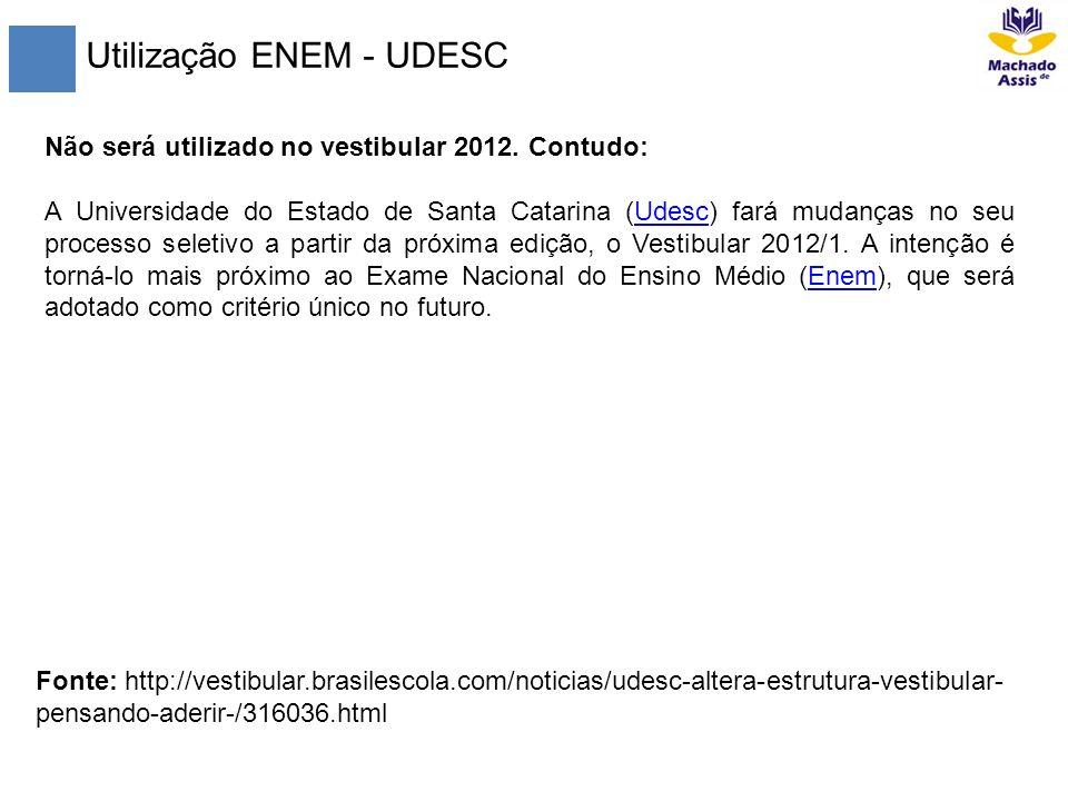 Utilização ENEM - UDESC