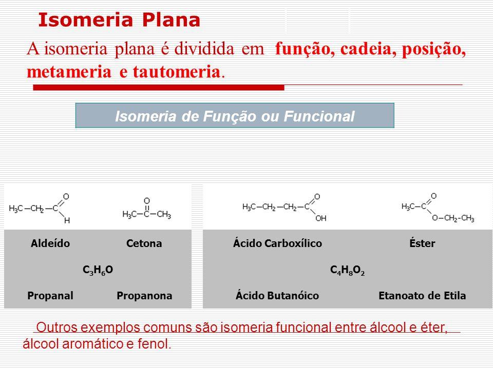 Isomeria de Função ou Funcional
