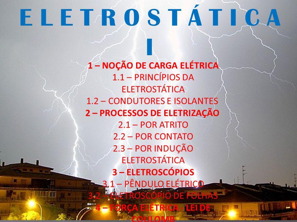 4 – FORÇA ELÉTRICA - LEI DE COULOMB