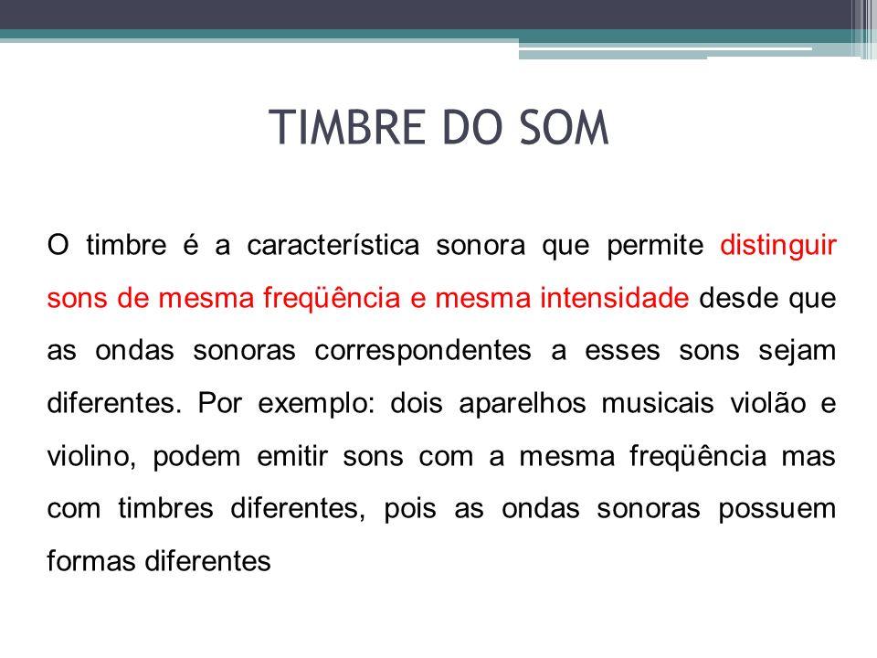 TIMBRE DO SOM