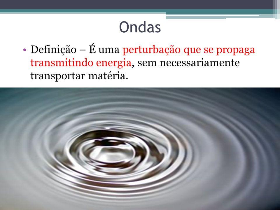 OndasDefinição – É uma perturbação que se propaga transmitindo energia, sem necessariamente transportar matéria.