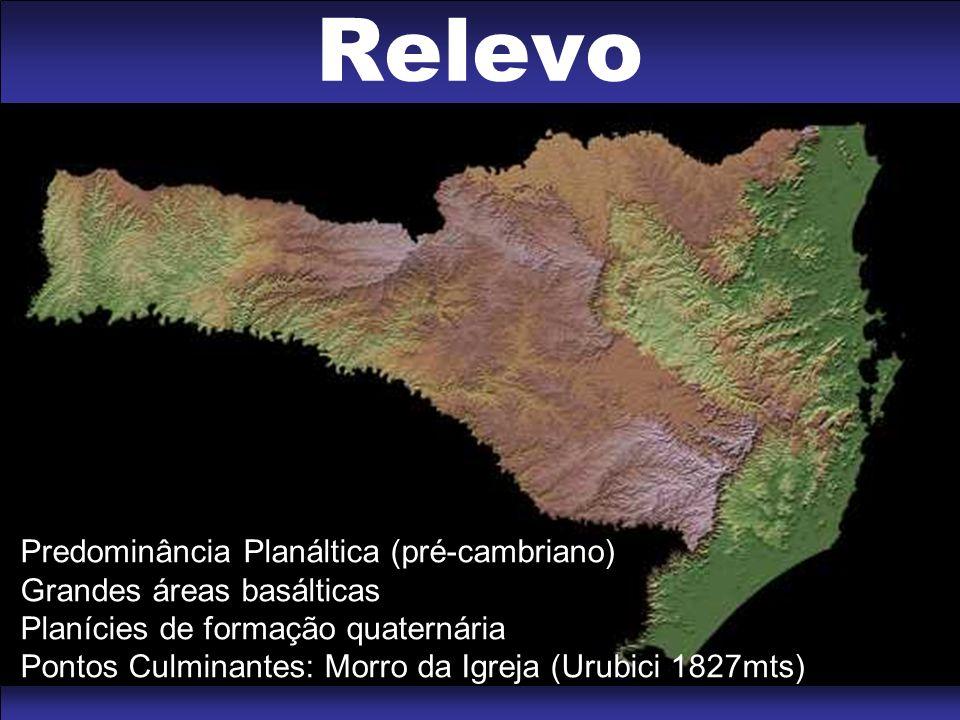 Relevo Predominância Planáltica (pré-cambriano)