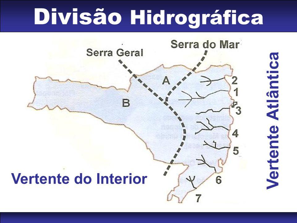 Divisão Hidrográfica Vertente Atlântica Vertente do Interior