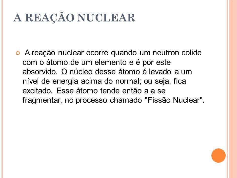 A REAÇÃO NUCLEAR