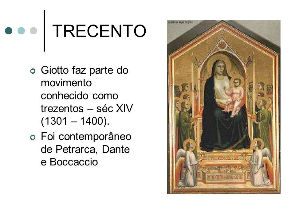 TRECENTO Giotto faz parte do movimento conhecido como trezentos – séc XIV (1301 – 1400).