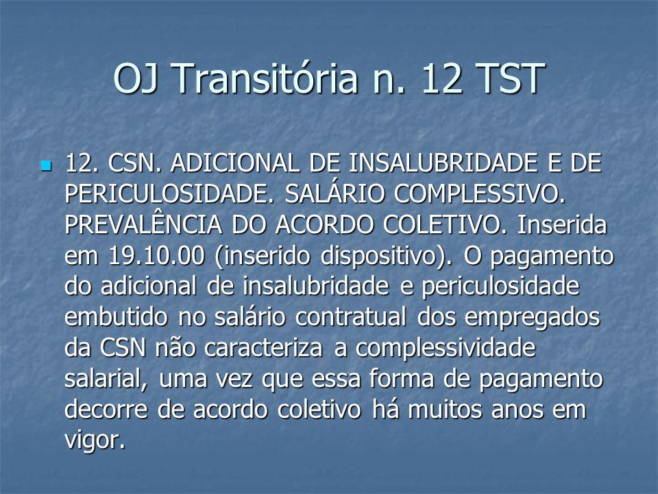 OJ Transitória n. 12 TST