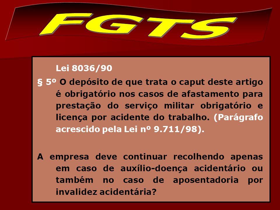 FGTS Lei 8036/90.