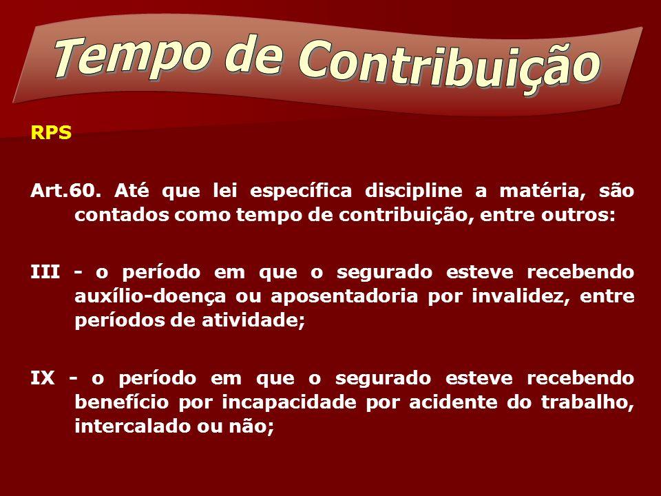 Tempo de Contribuição RPS