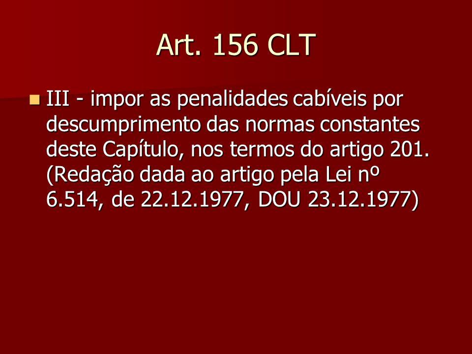 Art. 156 CLT