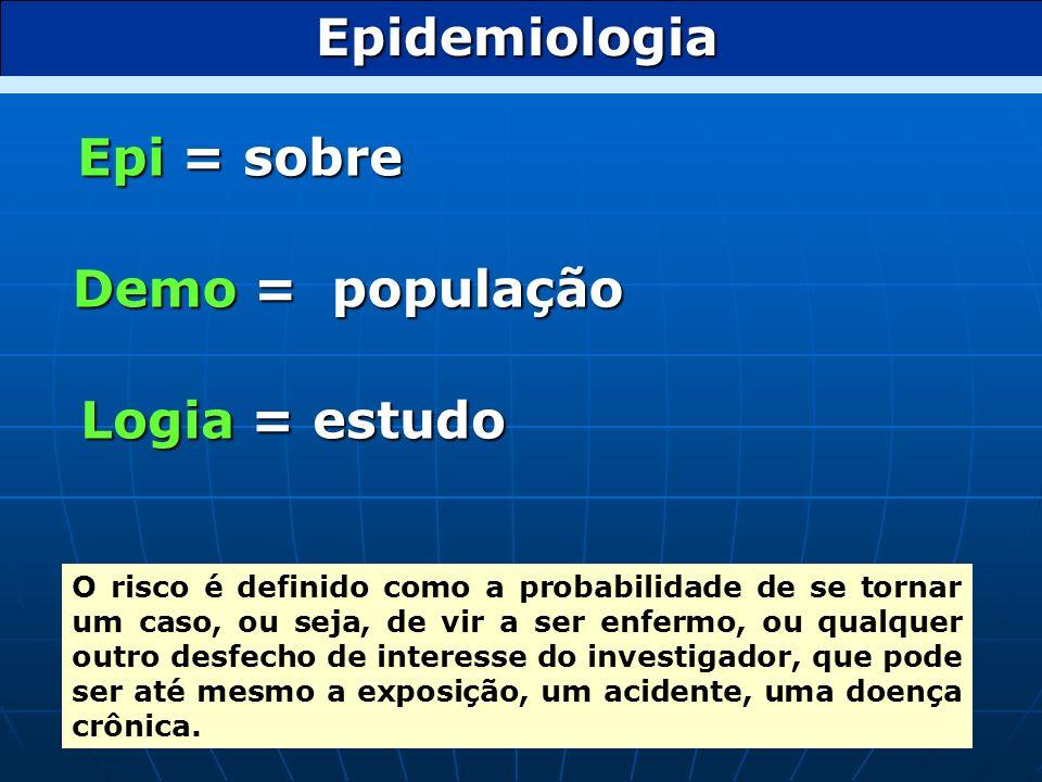 Epidemiologia Epi = sobre
