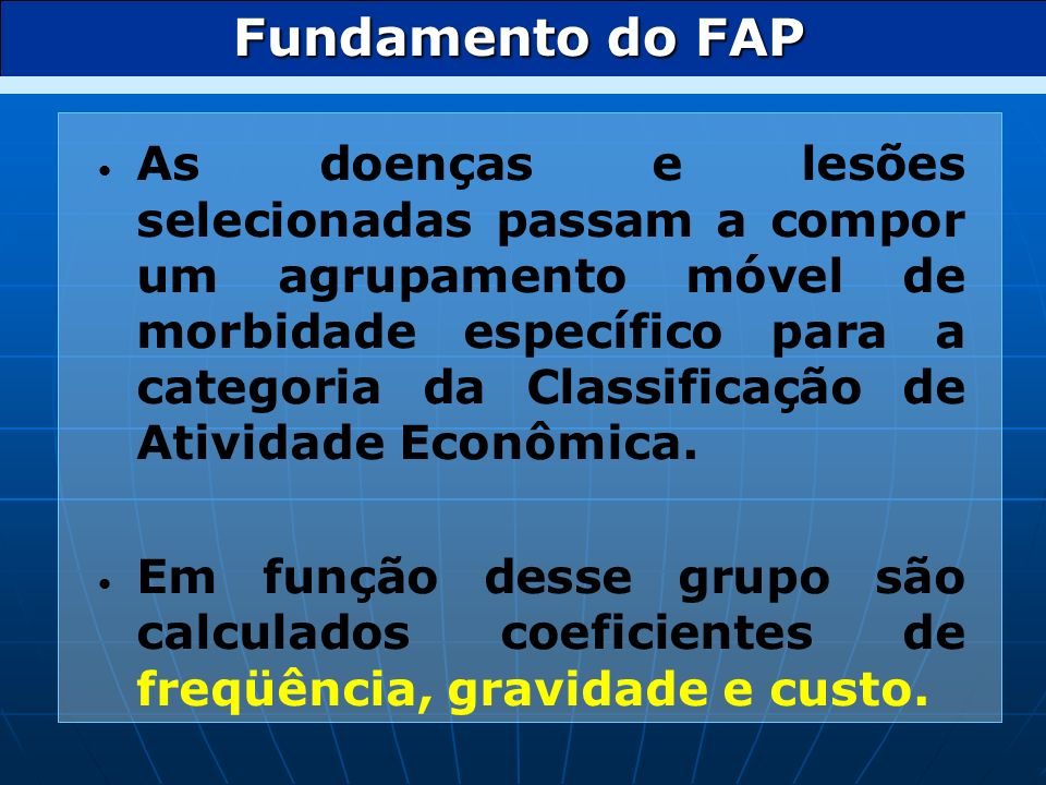 Fundamento do FAP
