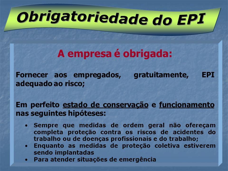 Obrigatoriedade do EPI