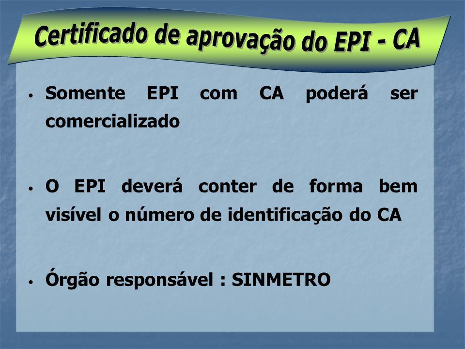 Certificado de aprovação do EPI - CA