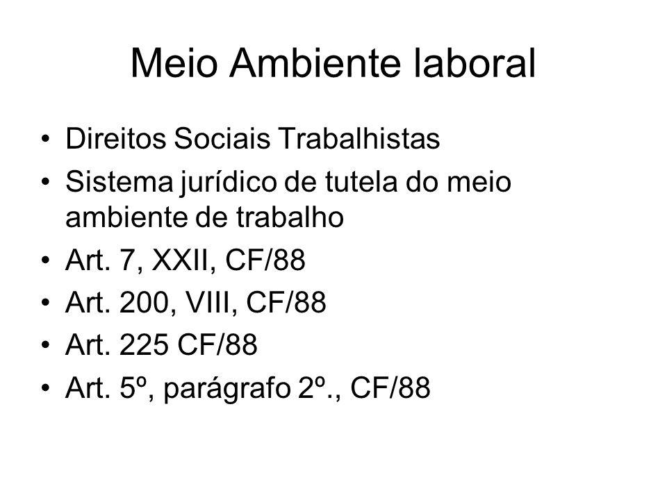 Meio Ambiente laboral Direitos Sociais Trabalhistas