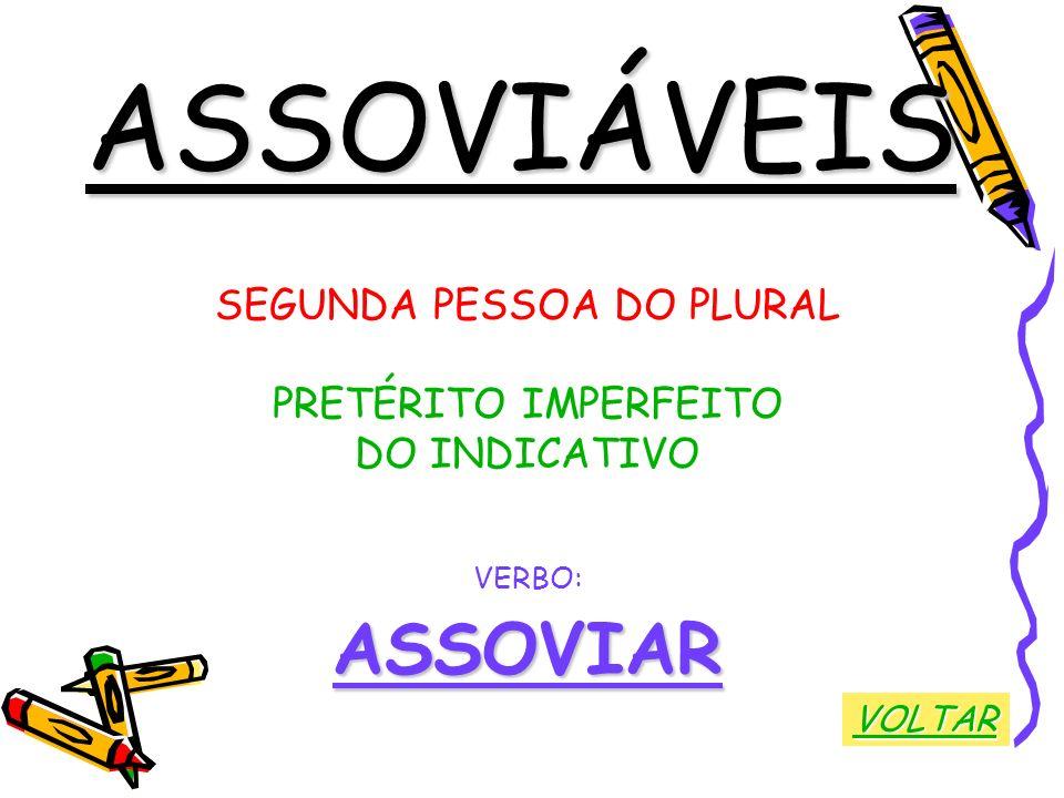 SEGUNDA PESSOA DO PLURAL