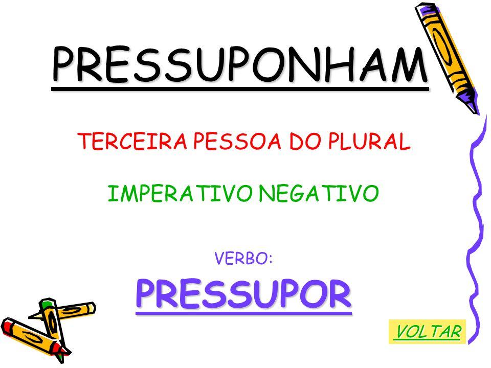 TERCEIRA PESSOA DO PLURAL