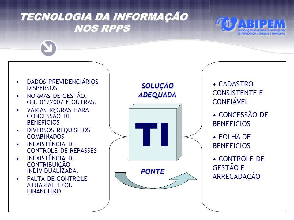 TECNOLOGIA DA INFORMAÇÃO NOS RPPS