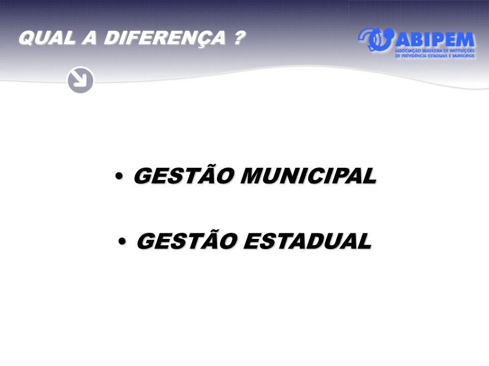 QUAL A DIFERENÇA GESTÃO MUNICIPAL GESTÃO ESTADUAL