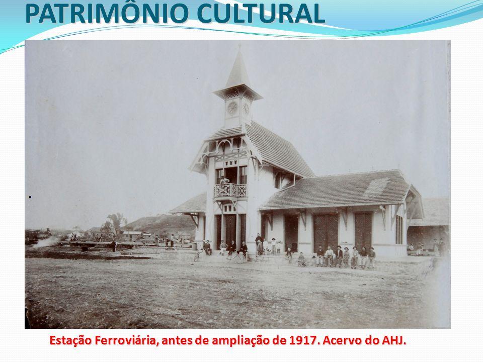 Estação Ferroviária, antes de ampliação de 1917. Acervo do AHJ.