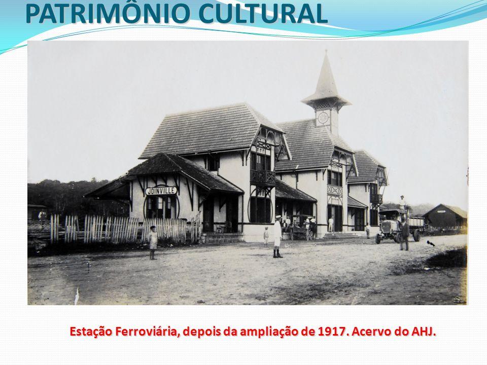 Estação Ferroviária, depois da ampliação de 1917. Acervo do AHJ.