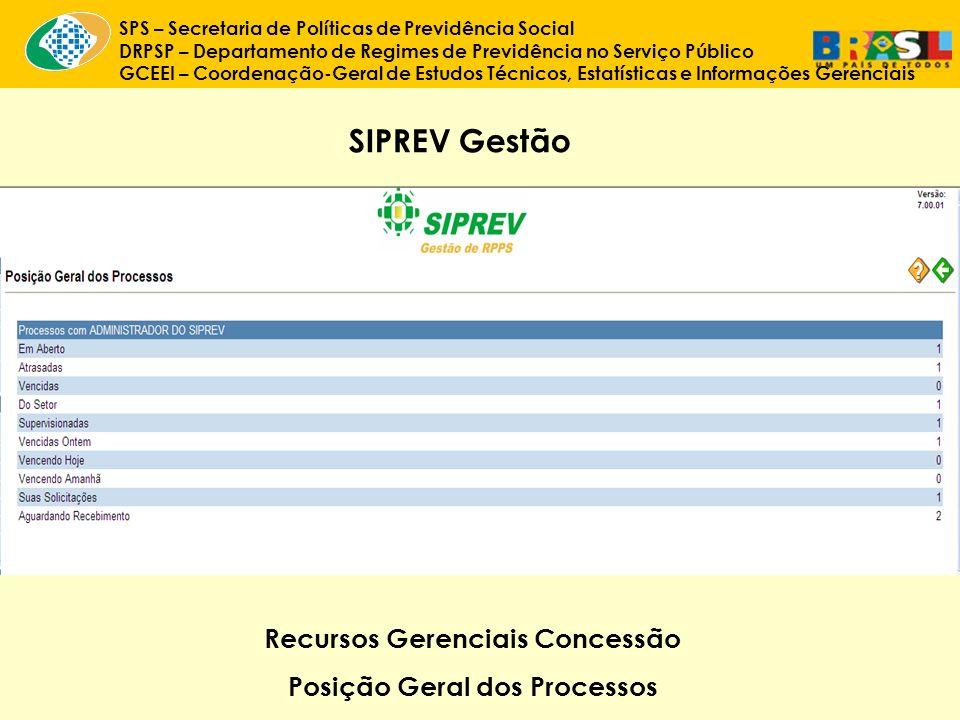 Recursos Gerenciais Concessão Posição Geral dos Processos