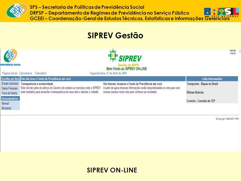 SIPREV Gestão SIPREV ON-LINE