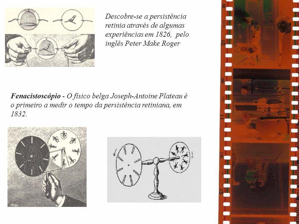 Descobre-se a persistência retinia através de algumas experiências em 1826, pelo inglês Peter Make Roger