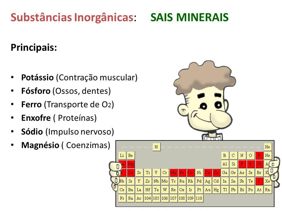 Substâncias Inorgânicas: SAIS MINERAIS